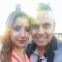 lili con Carlos de La Adictiva
