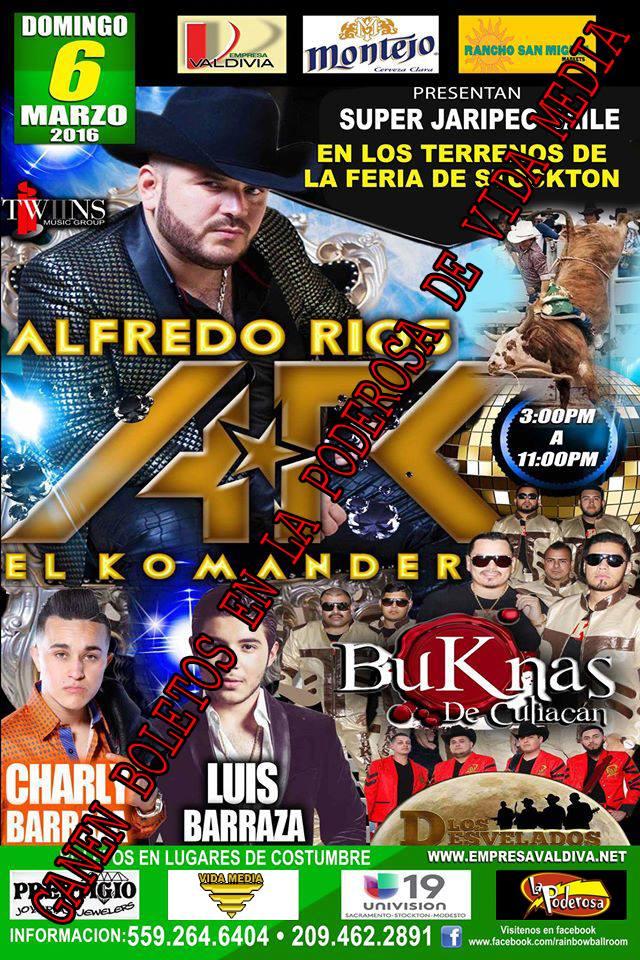 El Komander 6 de Marzo 2016 en Los Terrenos De La Feria de Stockton...