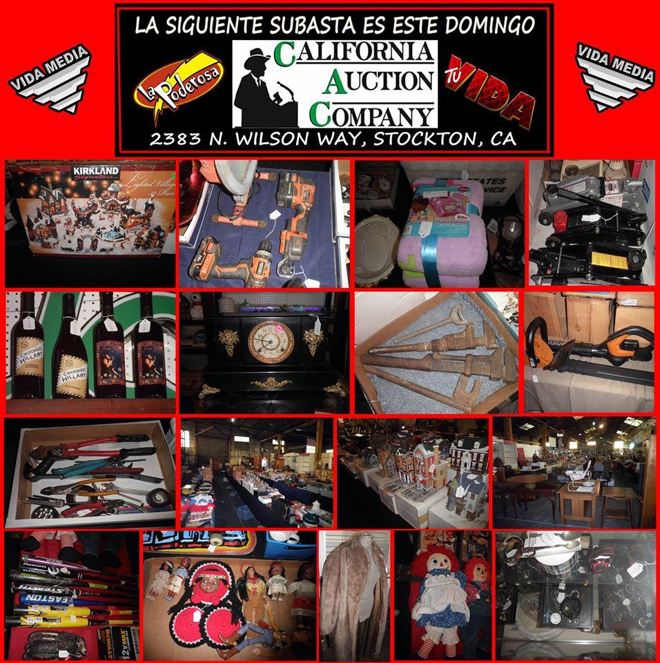 No se pierdan la siguiente subasta este Domingo 11 de Diciembre a las 11 de la mañana en California Auction Company en el 2383 N. Wilson Way en Stockton, California 95205.