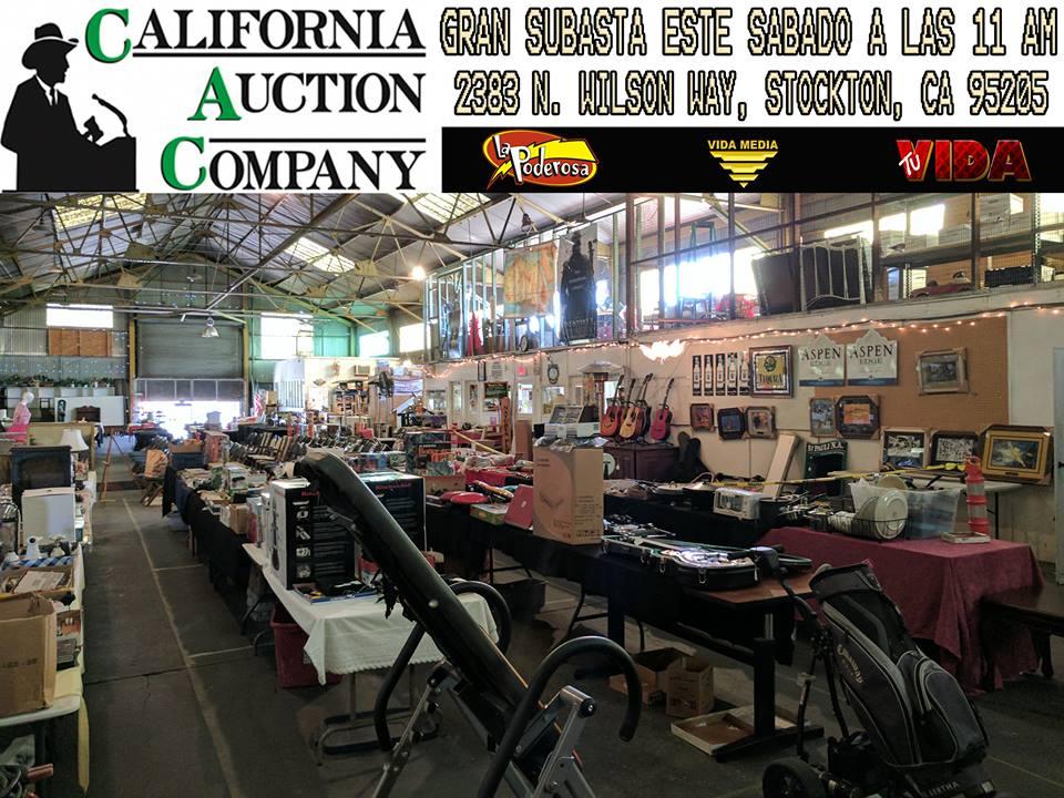 Subasta este Sabado 6 de Mayo a las 11 de la Mañana en California Auction Company